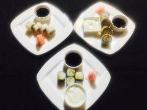 Tutomaki, Yasai Uramaki, Abokado Maki, Sake Maki, Dragon Roll